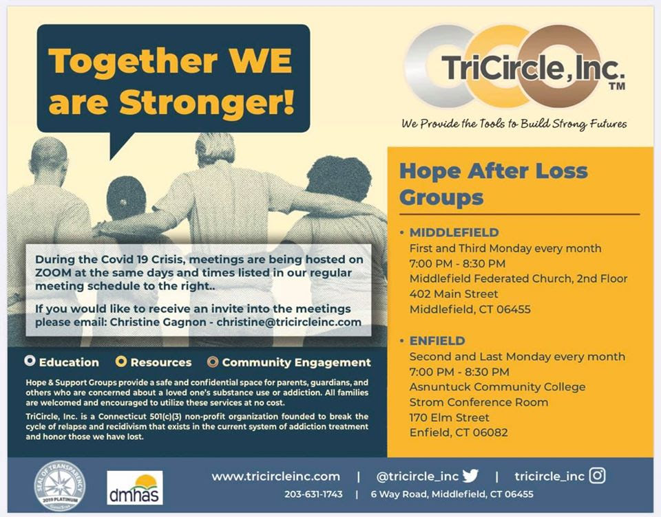 hope after loss groups flyer