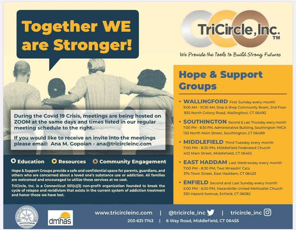 hope and support groups flyer