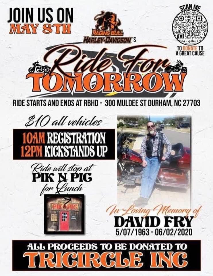 Ride for Tomorrow Flyer